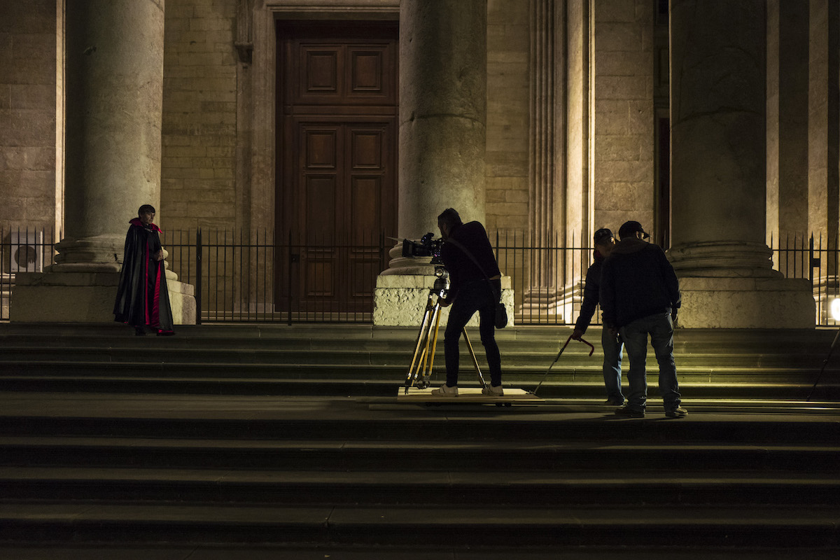 Giallo behind the scene picture